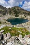 Καταπληκτική πανοραμική άποψη των λιμνών Musalenski, βουνό Rila Στοκ Εικόνες