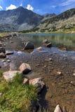 Καταπληκτική πανοραμική άποψη των λιμνών Musalenski και της αιχμής Musala, βουνό Rila Στοκ Φωτογραφίες