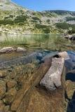Καταπληκτική πανοραμική άποψη Dalgoto η μακριά λίμνη, βουνό Pirin Στοκ εικόνα με δικαίωμα ελεύθερης χρήσης