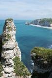 Καταπληκτικοί απότομοι βράχοι Etretat, Normandie Στοκ Εικόνα