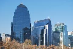 Καταπληκτικοί ουρανοξύστες στο Σαντιάγο, Χιλή Στοκ εικόνες με δικαίωμα ελεύθερης χρήσης