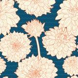 Καταπληκτικό άνευ ραφής άσπρος-μπλε σχέδιο αστέρων Στοκ εικόνες με δικαίωμα ελεύθερης χρήσης