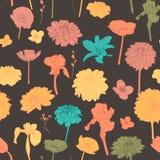 Καταπληκτικό άνευ ραφής εκλεκτής ποιότητας ζωηρόχρωμο floral σχέδιο Στοκ Εικόνες