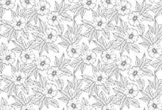 Καταπληκτικό άνευ ραφής διανυσματικό floral σχέδιο Απεικόνιση αποθεμάτων