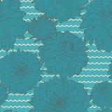 Καταπληκτικό άνευ ραφής μπλε σχέδιο αστέρων Στοκ φωτογραφία με δικαίωμα ελεύθερης χρήσης