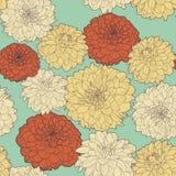 Καταπληκτικό άνευ ραφής floral εκλεκτής ποιότητας ιαπωνικό σχέδιο asters άνοιξη διανυσματική απεικόνιση