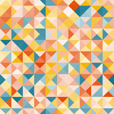 Καταπληκτικό ζωηρόχρωμο κίτρινος-μπλε εκλεκτής ποιότητας γεωμετρικό σχέδιο Στοκ φωτογραφία με δικαίωμα ελεύθερης χρήσης
