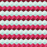 Καταπληκτικό ζωηρόχρωμο μπλε-ρόδινο εκλεκτής ποιότητας γεωμετρικό σχέδιο Στοκ φωτογραφία με δικαίωμα ελεύθερης χρήσης