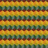 Καταπληκτικό ζωηρόχρωμο πράσινος-καφετί εκλεκτής ποιότητας γεωμετρικό σχέδιο Στοκ εικόνα με δικαίωμα ελεύθερης χρήσης