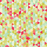 Καταπληκτικό ζωηρόχρωμο πράσινο εκλεκτής ποιότητας γεωμετρικό σχέδιο τριγώνων μωσαϊκών ελεύθερη απεικόνιση δικαιώματος