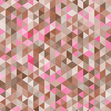 Καταπληκτικό ζωηρόχρωμο ρόδινος-καφετί εκλεκτής ποιότητας γεωμετρικό σχέδιο τριγώνων μωσαϊκών Στοκ Εικόνα