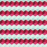 Καταπληκτικό ζωηρόχρωμο ρόδινο εκλεκτής ποιότητας γεωμετρικό σχέδιο Στοκ φωτογραφία με δικαίωμα ελεύθερης χρήσης