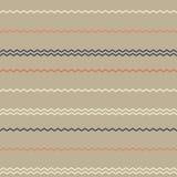 Καταπληκτικό ζωηρόχρωμο σκοτεινός-μπεζ εκλεκτής ποιότητας γεωμετρικό σχέδιο λωρίδων Στοκ Εικόνες