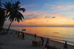 Καταπληκτικό ηλιοβασίλεμα Koh Phangan, Ταϊλάνδη Στοκ φωτογραφία με δικαίωμα ελεύθερης χρήσης