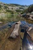 Καταπληκτικό πανόραμα Dalgoto η μακριά λίμνη, βουνό Pirin Στοκ Εικόνες