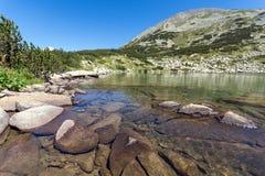 Καταπληκτικό πανόραμα Dalgoto η μακριά λίμνη, βουνό Pirin Στοκ εικόνα με δικαίωμα ελεύθερης χρήσης