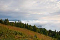 Καταπληκτικό πρωί σε Gerlitzen Apls στην Αυστρία Στοκ Φωτογραφίες