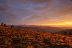 Καταπληκτικό πρωί σε Gerlitzen Apls στην Αυστρία Στοκ Εικόνες
