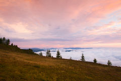 Καταπληκτικό πρωί σε Gerlitzen Apls στην Αυστρία Στοκ εικόνες με δικαίωμα ελεύθερης χρήσης