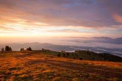 Καταπληκτικό πρωί σε Gerlitzen Apls στην Αυστρία Στοκ εικόνα με δικαίωμα ελεύθερης χρήσης