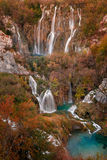 Καταπληκτικό τοπίο φθινοπώρου των λιμνών Plitvice στοκ φωτογραφία
