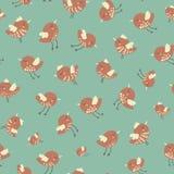 Καταπληκτικό χαριτωμένο άνευ ραφής εκλεκτής ποιότητας ζωηρόχρωμο σχέδιο κοτόπουλου πουλιών Στοκ φωτογραφίες με δικαίωμα ελεύθερης χρήσης