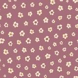 Καταπληκτικό χαριτωμένο άνευ ραφής εκλεκτής ποιότητας ζωηρόχρωμο floral σχέδιο Στοκ Φωτογραφίες