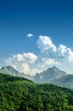 Καταπληκτικό δύσκολο εθνικό πάρκο Durmitor βουνών, Μαυροβούνιο Στοκ εικόνα με δικαίωμα ελεύθερης χρήσης