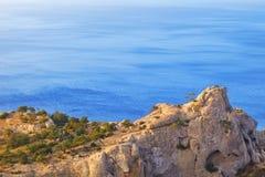 Καταπληκτικό seascape της Κριμαίας, Ουκρανία Στοκ Φωτογραφίες
