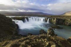 Καταρράκτες Ισλανδία Godafoss Στοκ Φωτογραφία
