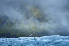 Καταρράκτες, ομίχλη και παγετώνας Στοκ Εικόνες