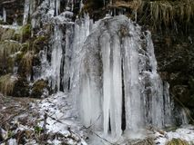 Καταρράκτες πάγου Liddle το χειμώνα Στοκ Φωτογραφίες