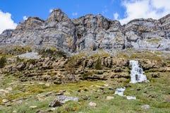 Καταρράκτες στην κοιλάδα Ordesa, Αραγονία, Ισπανία Στοκ Εικόνες