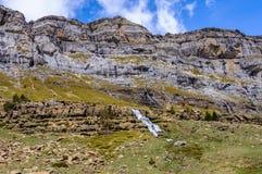 Καταρράκτες στην κοιλάδα Ordesa, Αραγονία, Ισπανία Στοκ εικόνες με δικαίωμα ελεύθερης χρήσης