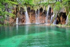 Καταρράκτες στο εθνικό πάρκο λιμνών Plitvice, Κροατία Στοκ Φωτογραφίες