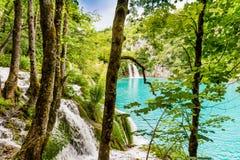 Καταρράκτες στο εθνικό πάρκο λιμνών Plitvice, Κροατία Στοκ Εικόνες