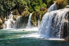 Καταρράκτες στο εθνικό πάρκο της Κροατίας Krka Στοκ φωτογραφία με δικαίωμα ελεύθερης χρήσης