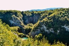 Καταρράκτες του εθνικού πάρκου λιμνών Plitvice, Κροατία Στοκ Φωτογραφία