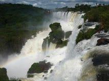 Καταρράκτες Iguazu, στον ήλιο στοκ εικόνα