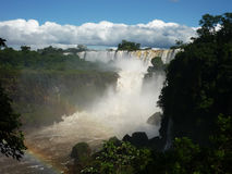 Καταρράκτες Iguazu την ηλιόλουστη ημέρα, Αργεντινή στοκ φωτογραφία με δικαίωμα ελεύθερης χρήσης