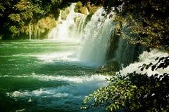 Καταρράκτες Krka, εθνικό πάρκο της Κροατίας Krka Στοκ φωτογραφία με δικαίωμα ελεύθερης χρήσης