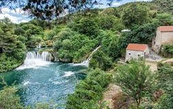Καταρράκτες Krka, κροατικό εθνικό πάρκο Στοκ Εικόνες
