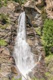 Καταρράκτες Lillaz κοντά σε Cogne, εθνικό πάρκο Gran Paradiso, κοιλάδα Aosta στις Άλπεις Ιταλία Στοκ Φωτογραφία