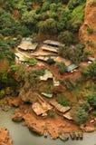 Καταρράκτες Ouzoud κοντά στο χωριό Tanaghmeilt, μεγάλος άτλαντας, Μαρόκο Στοκ Φωτογραφία