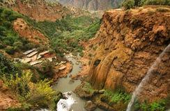 Καταρράκτες Ouzoud κοντά στο χωριό Tanaghmeilt, μεγάλος άτλαντας, Μαρόκο Στοκ φωτογραφία με δικαίωμα ελεύθερης χρήσης