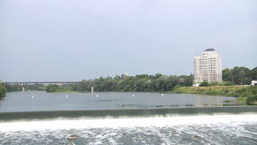 Καταρράκτης Βορειοαμερικανικός ποταμός Τοπίο απόθεμα βίντεο