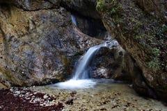 Καταρράκτης, εθνικό πάρκο Mala Fatra, Σλοβακία Στοκ Εικόνες