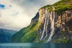 Καταρράκτης επτά αδελφών, Νορβηγία Στοκ Εικόνα