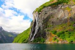 Καταρράκτης επτά αδελφών - geirangerfjord, Νορβηγία Στοκ φωτογραφία με δικαίωμα ελεύθερης χρήσης