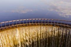 καταρράκτης λιμνών βραδι&omicron Στοκ Φωτογραφίες